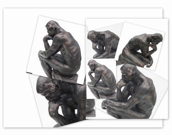 De Denker van Auguste Rodin. 47cm.