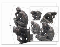 De Denker van Auguste Rodin. 17cm.