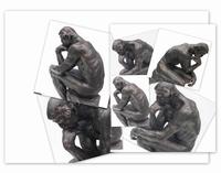 De Denker van Auguste Rodin. 34cm.